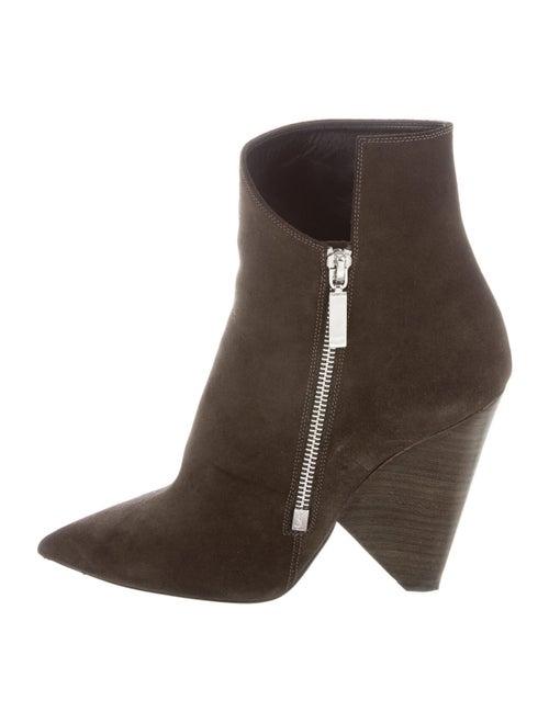 Saint Laurent Suede Boots Green