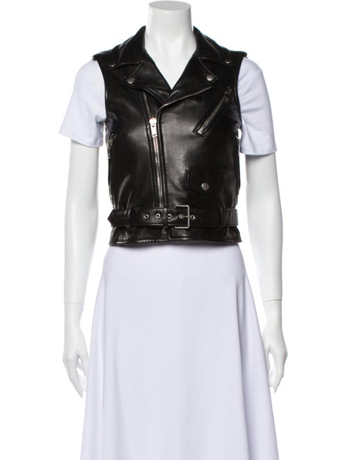 Saint Laurent 2012 Lamb Leather Vest Black