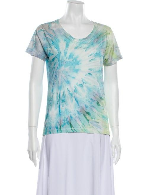 Saint Laurent Surf Sound Tie Dye Tie-Dye Print T-S