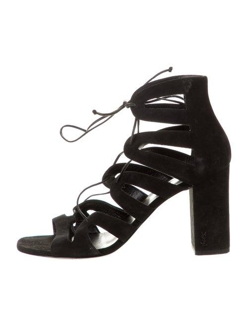 Saint Laurent Suede Gladiator Sandals Black