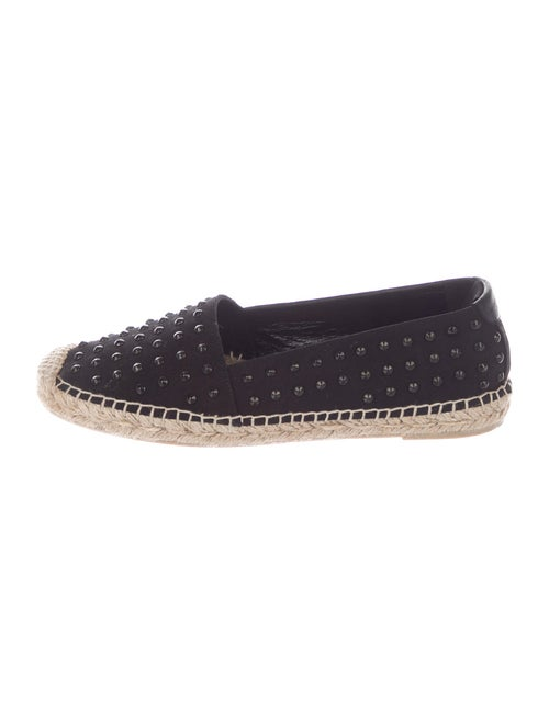 Saint Laurent Studded Accents Espadrilles Black
