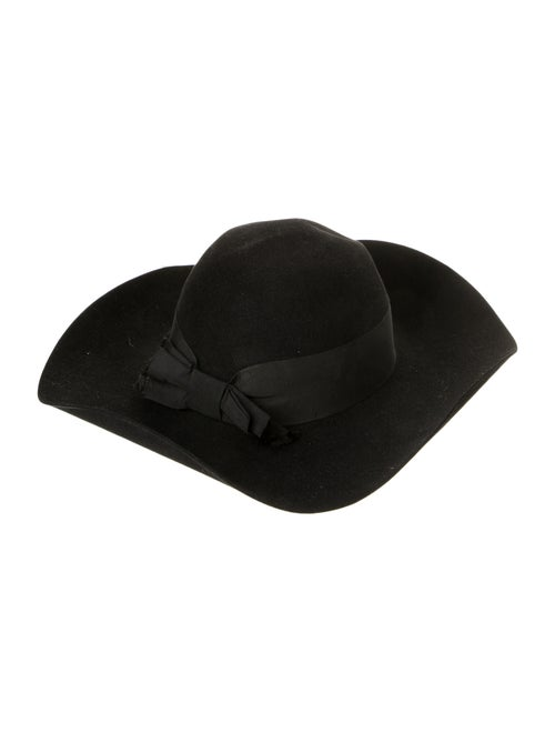 Saint Laurent Wide Brim Fedora Hat Black