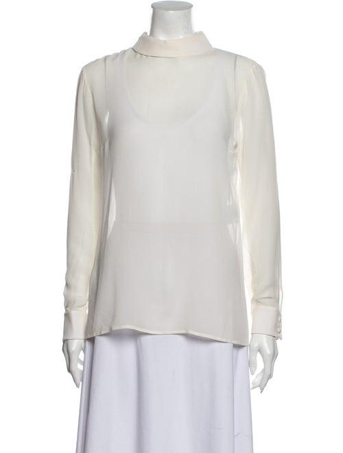 Saint Laurent 2014 Silk Blouse White