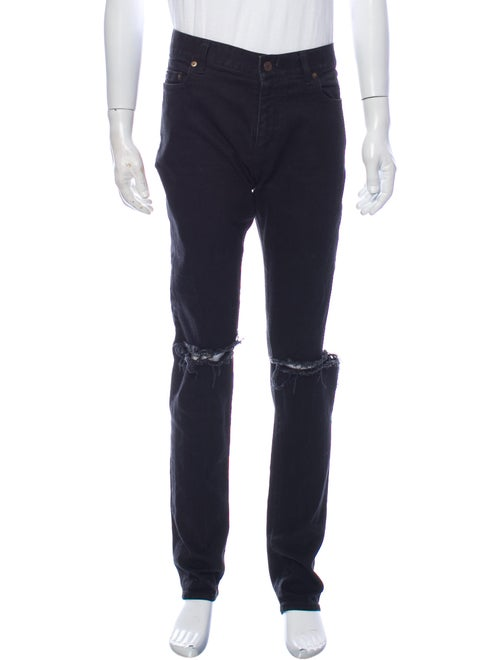 Saint Laurent D02 Distressed Skinny Jeans Skinny J