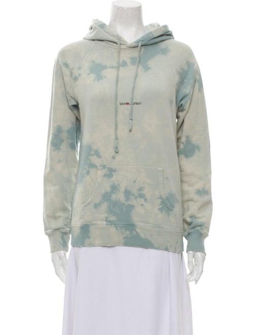 Saint Laurent 2018 Tie-Dye Print Sweatshirt Blue