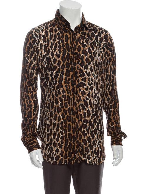 Saint Laurent Leopard Animal Print Shirt Leopard