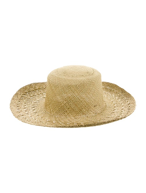 Saint Laurent Wide Brim Straw Hat w/ Tags Tan