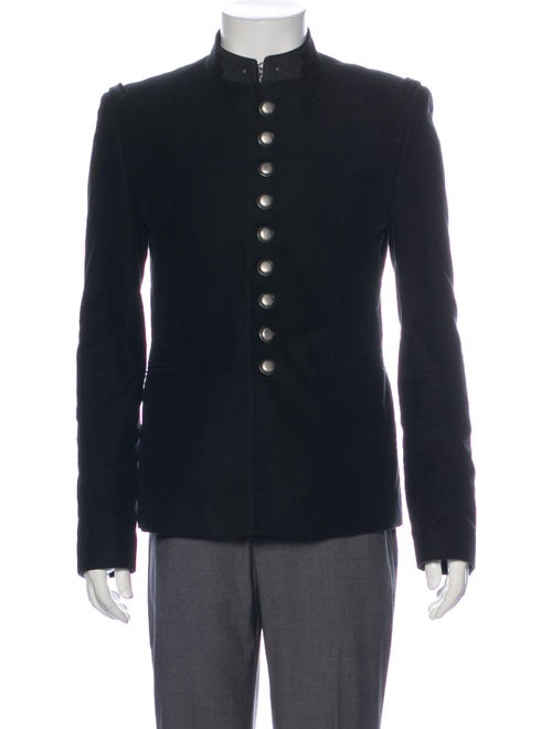 Saint Laurent 2019 Moleskin Officer Jacket Black