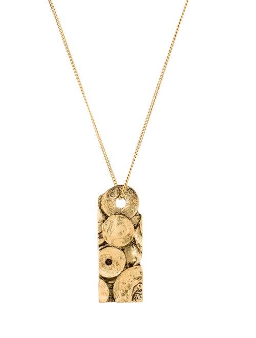 Saint Laurent Rive Gauche Medallion Necklace - image 1