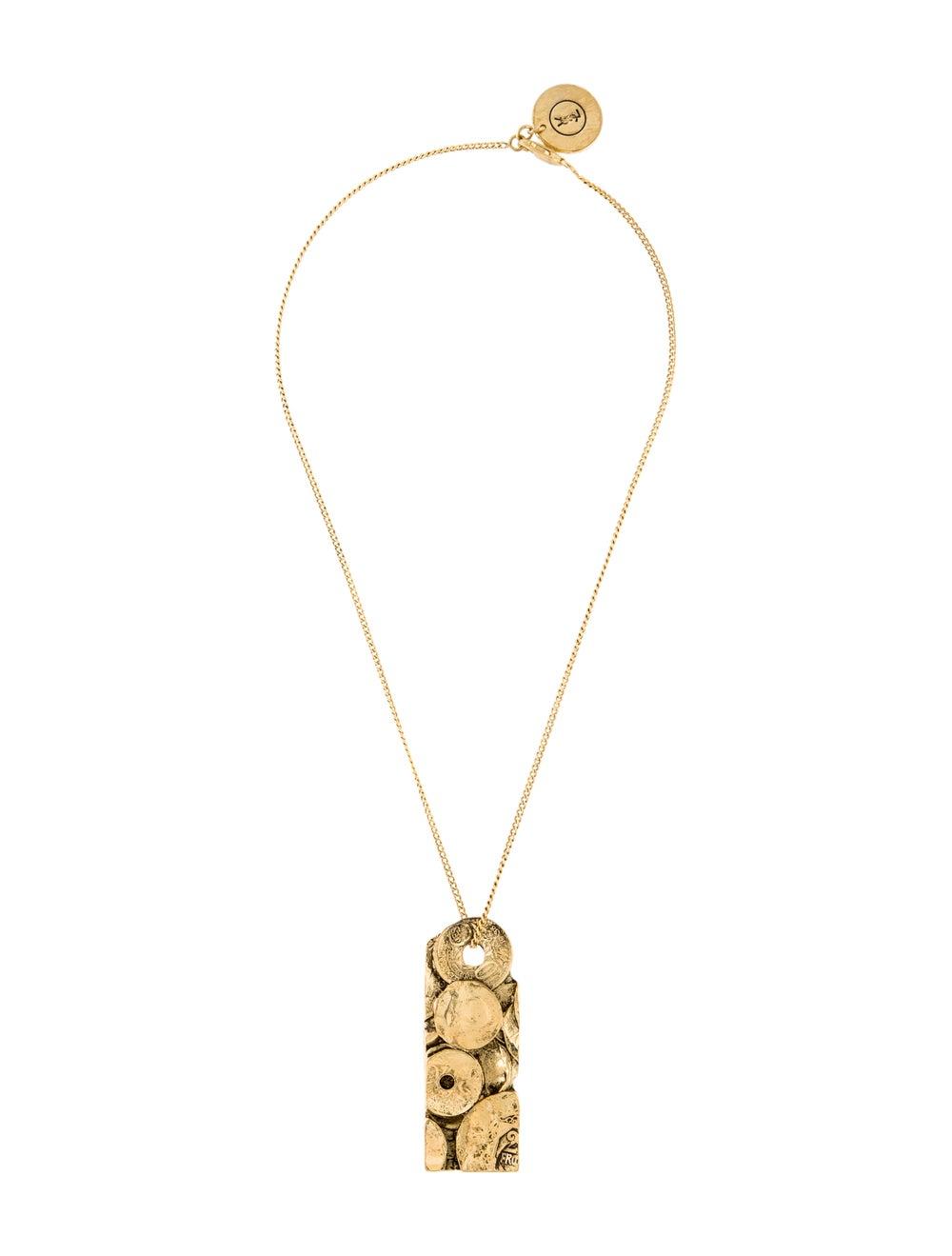Saint Laurent Rive Gauche Medallion Necklace - image 3
