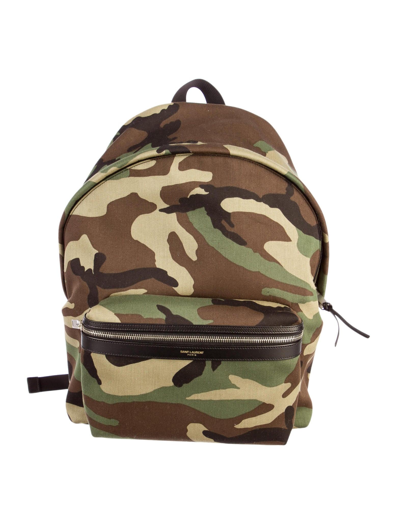 7ac96e3d7f8 Saint Laurent Camo Backpack w Tags - Bags - SNT20585
