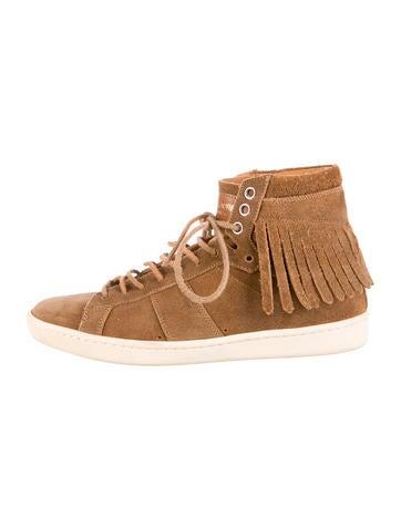Suede Fringe Sneakers