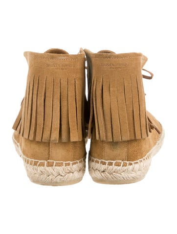Fringe Embellished Suede Sneakers