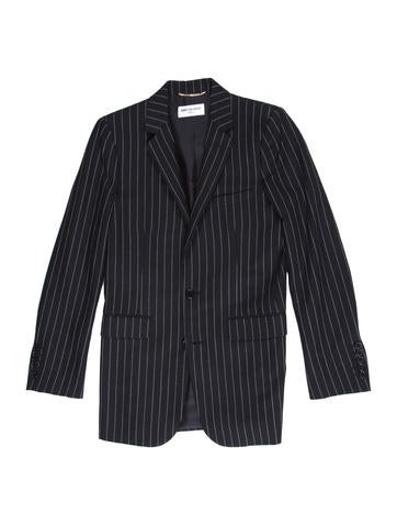Wool Pinstriped Blazer