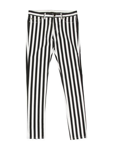 Striped Skinny Jeans w/ Tags