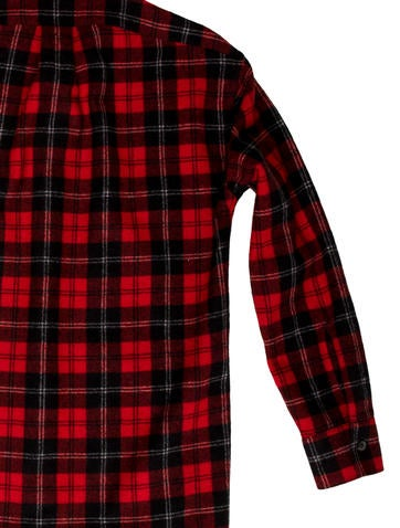 Plaid Wool Flannel Shirt