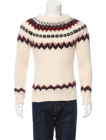 Saint Laurent Studded Patterned Sweater w/ Tags None