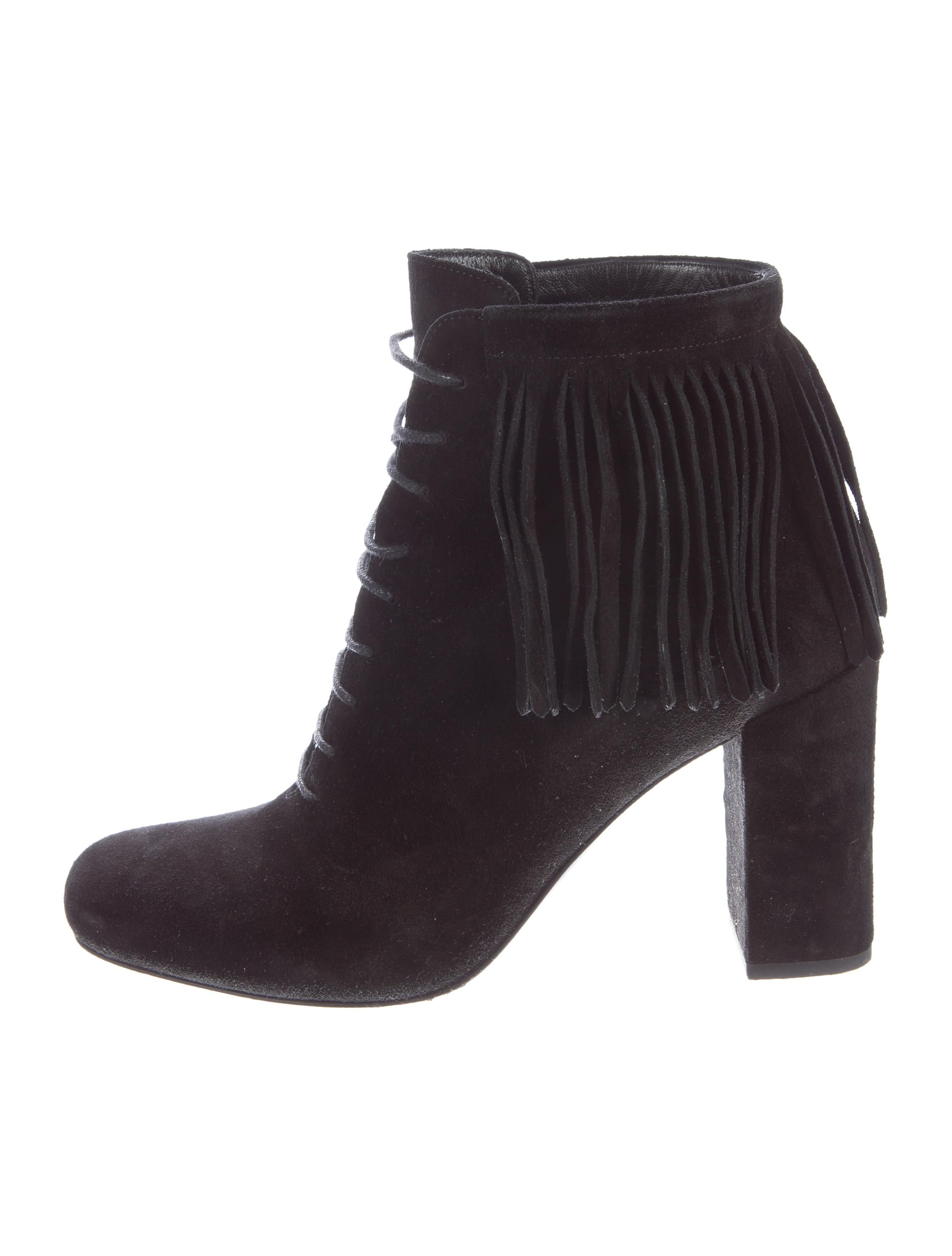 laurent fringe suede ankle boots shoes snt27864