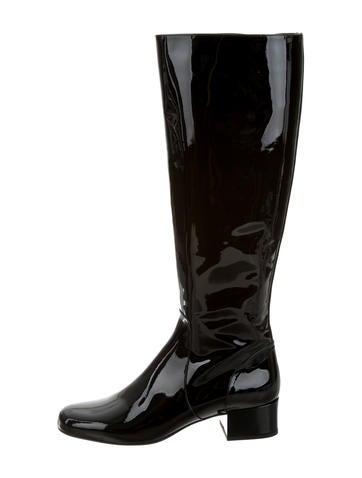 Saint Laurent Babies Patent Boots w/ Tags
