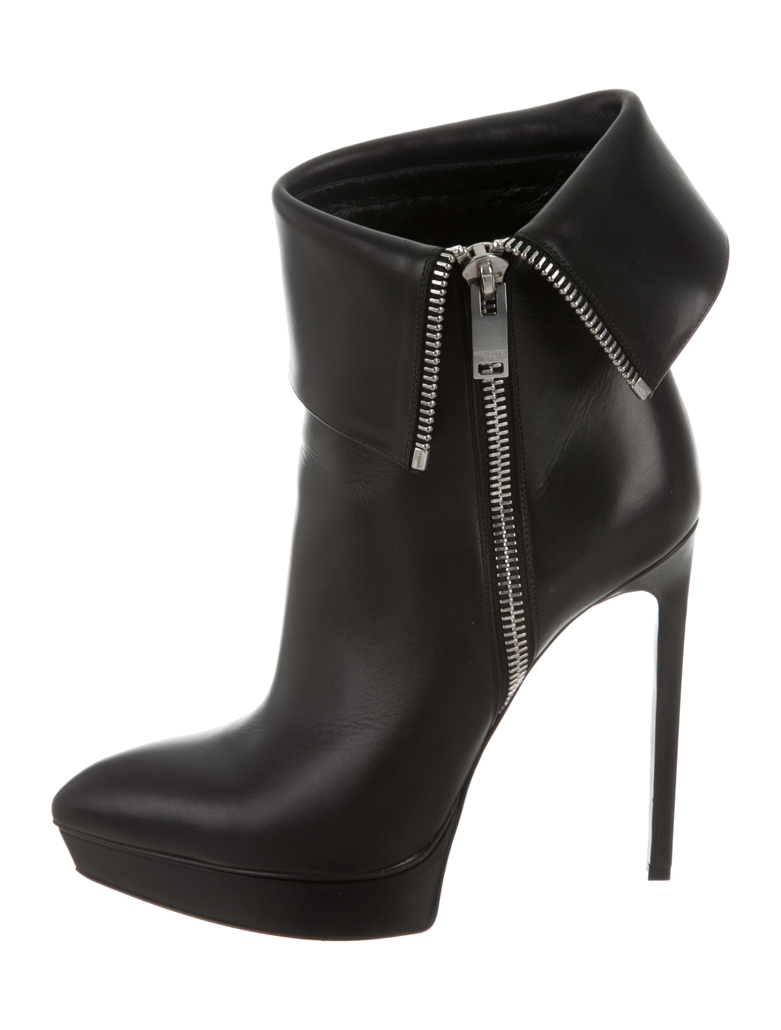 laurent leather platform ankle boots shoes