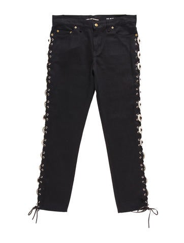 Saint Laurent Concho Skinny Jeans Clothing Snt28002