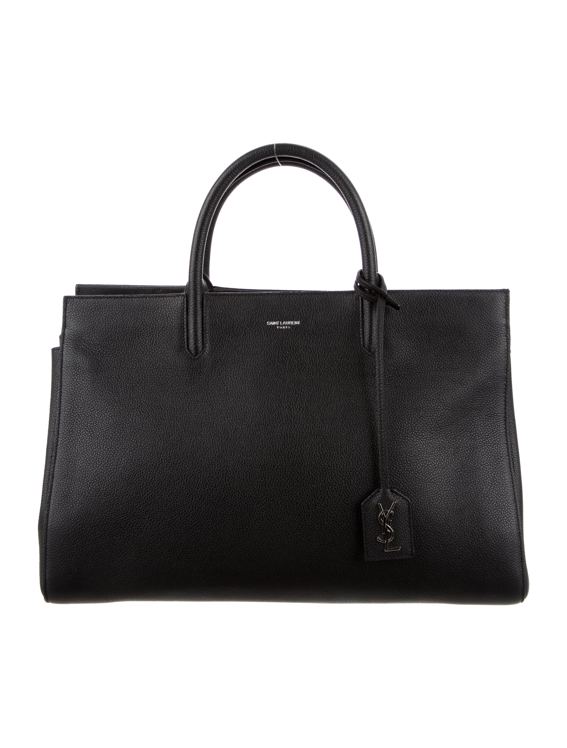7b8ed33794 Saint Laurent Medium Cabas Rive Gauche Bag - Handbags - SNT28467 ...