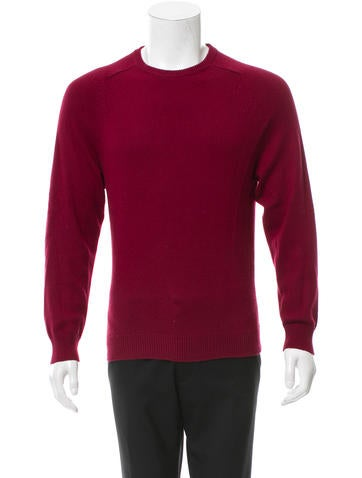 Saint Laurent Cashmere Rib Knit-Trimmed Sweater None