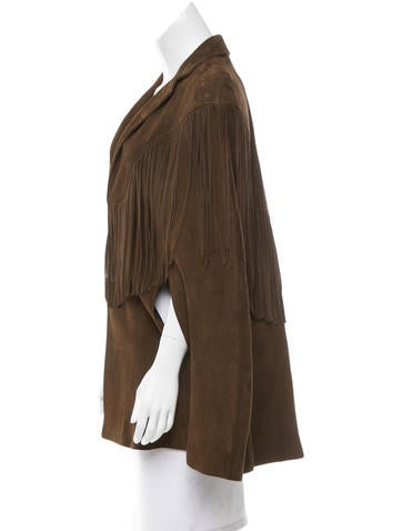 Suede Two-Button Cape