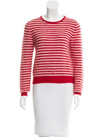 Saint Laurent Striped Mohair-Blend Sweater None