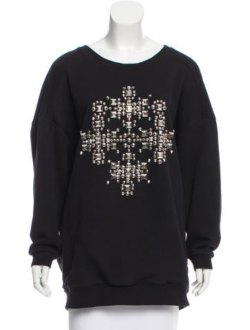 Saint Laurent Oversize Studded Sweatshirt None