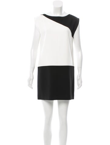 Saint Laurent Sleeveless Two-Tone Dress None