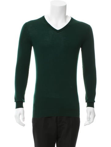 Saint Laurent Wool V-Neck Sweater None