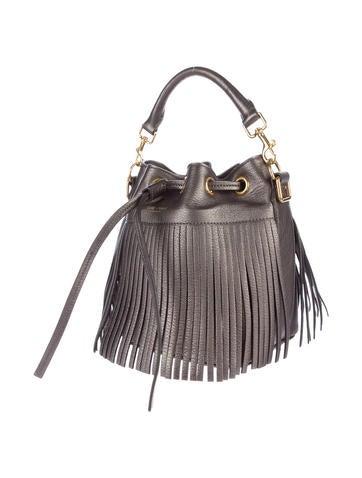 Small Emmanuelle Fringe Bucket Bag