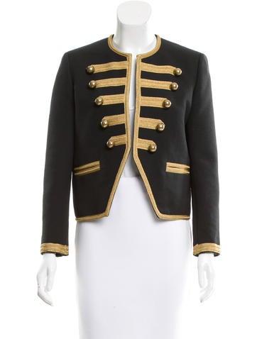 Saint Laurent Military Open Front Jacket
