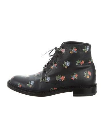 Prairie Flower Grunge Ankle Boots
