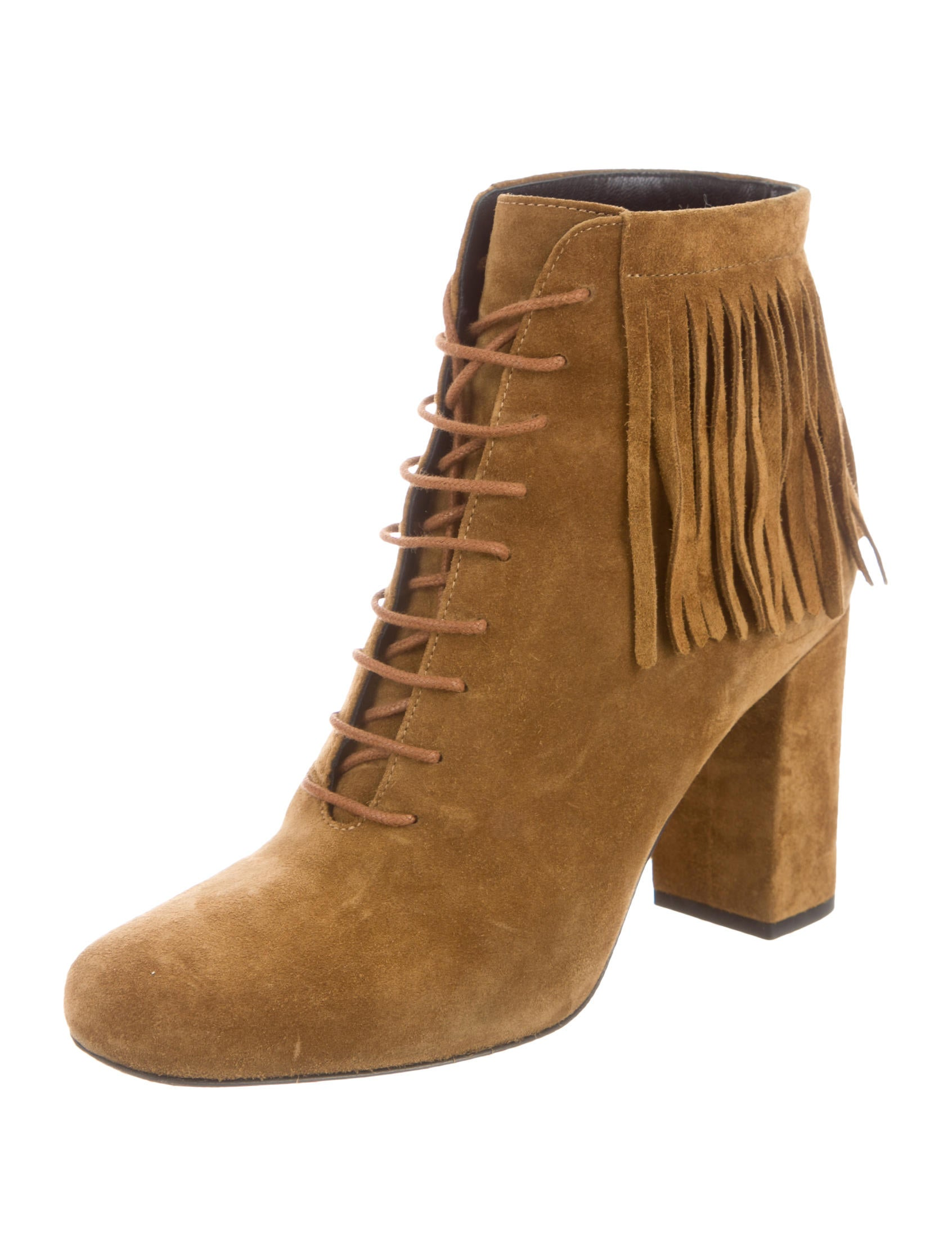 laurent suede fringe ankle boots shoes snt29713