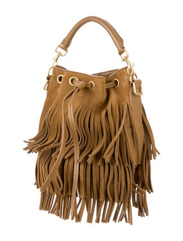 Emmanuelle Fringed Bucket Bag