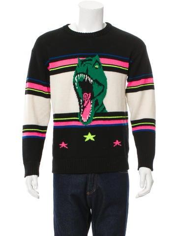 Saint Laurent Dinosaur Intarsia Sweater