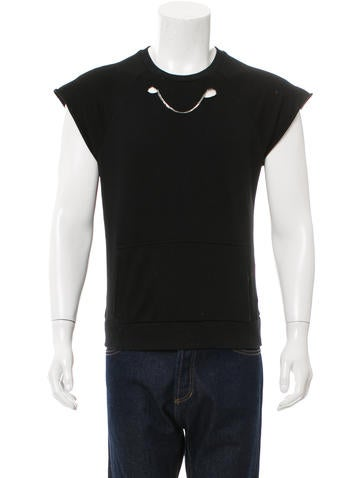 Saint Laurent Chain-Link Sleeveless Sweatshirt None