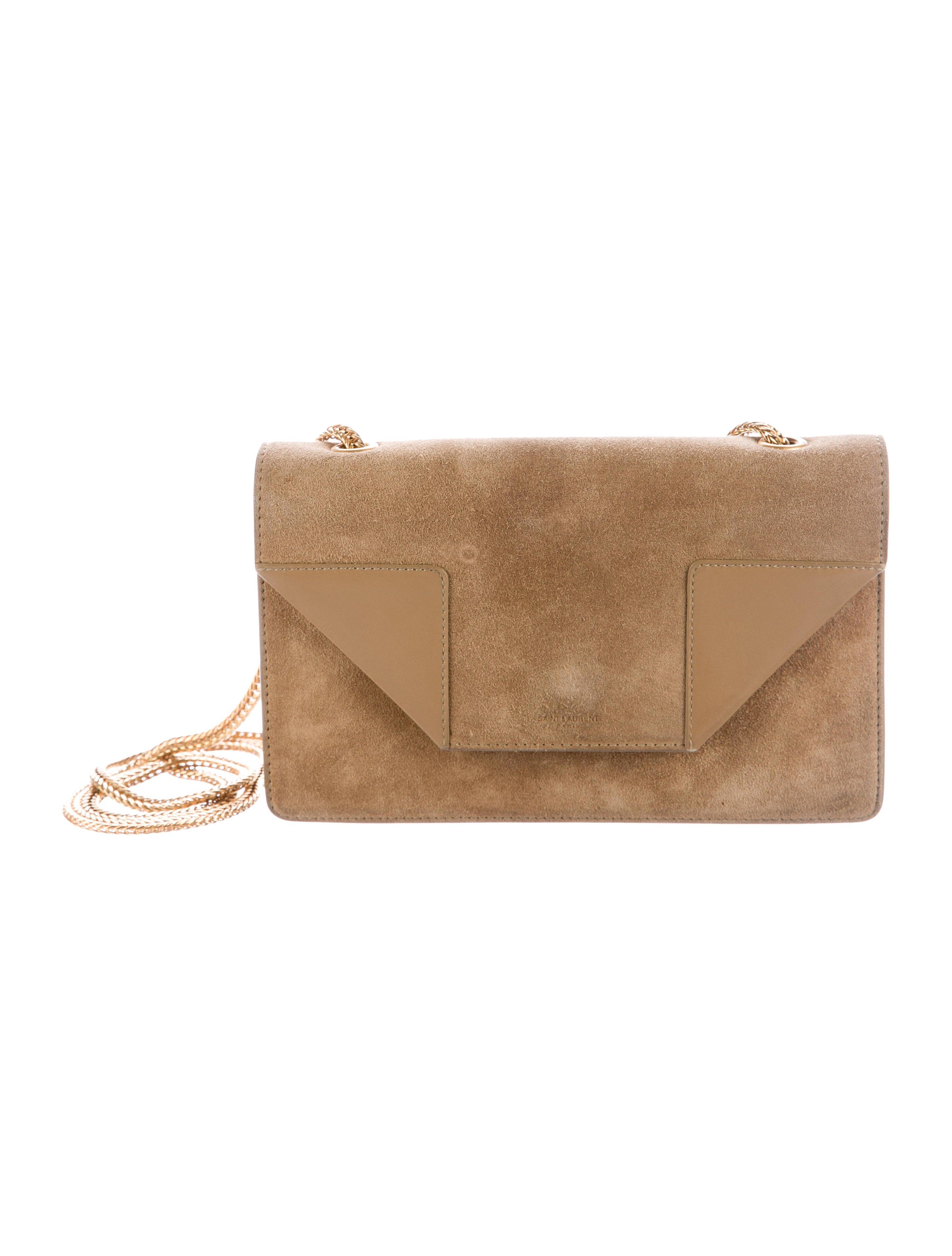 ce5655d9ff7 Saint Laurent Betty Mini Chain Suede Shoulder Bag - Travel Diaper Bag