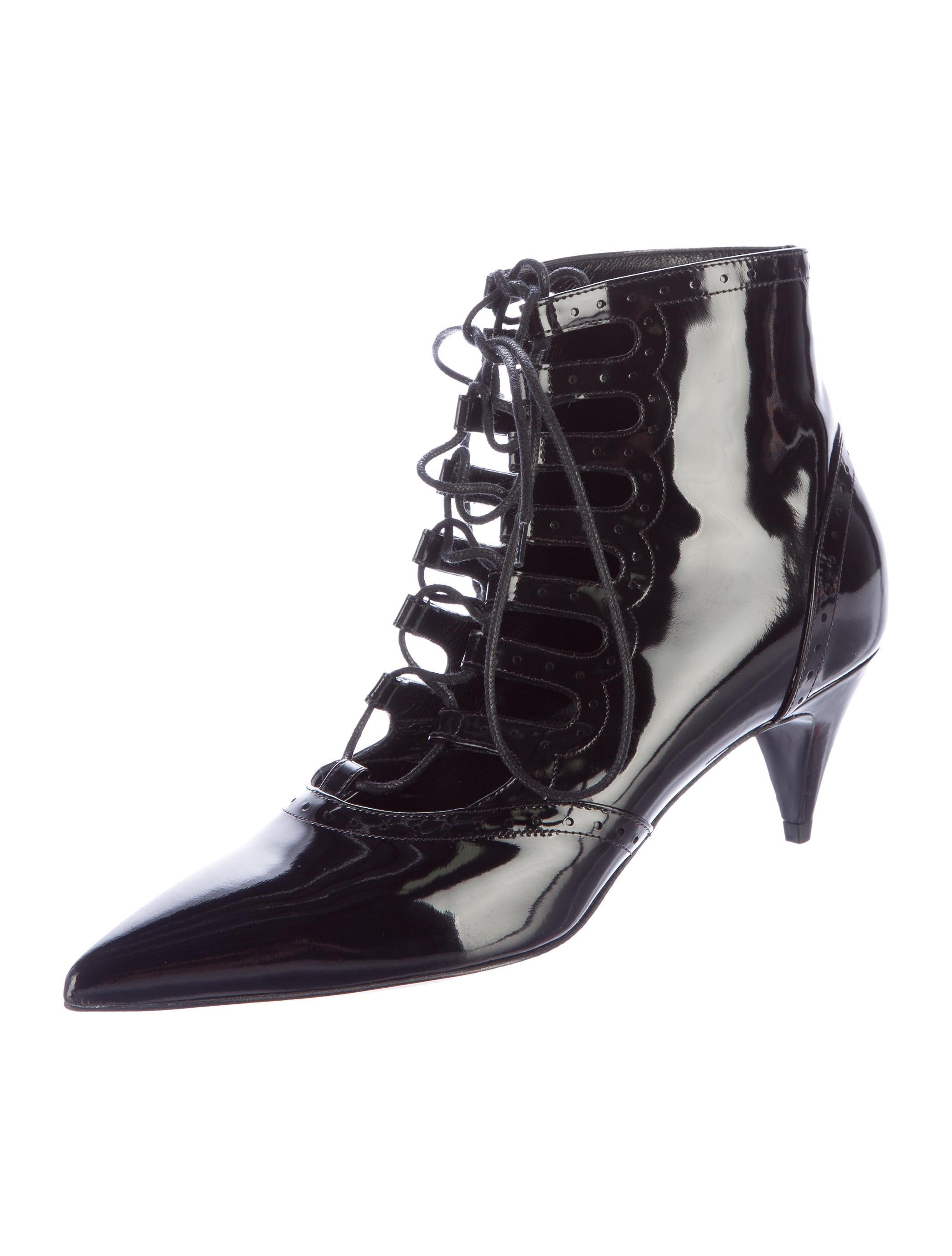laurent patent leather lace up boots shoes