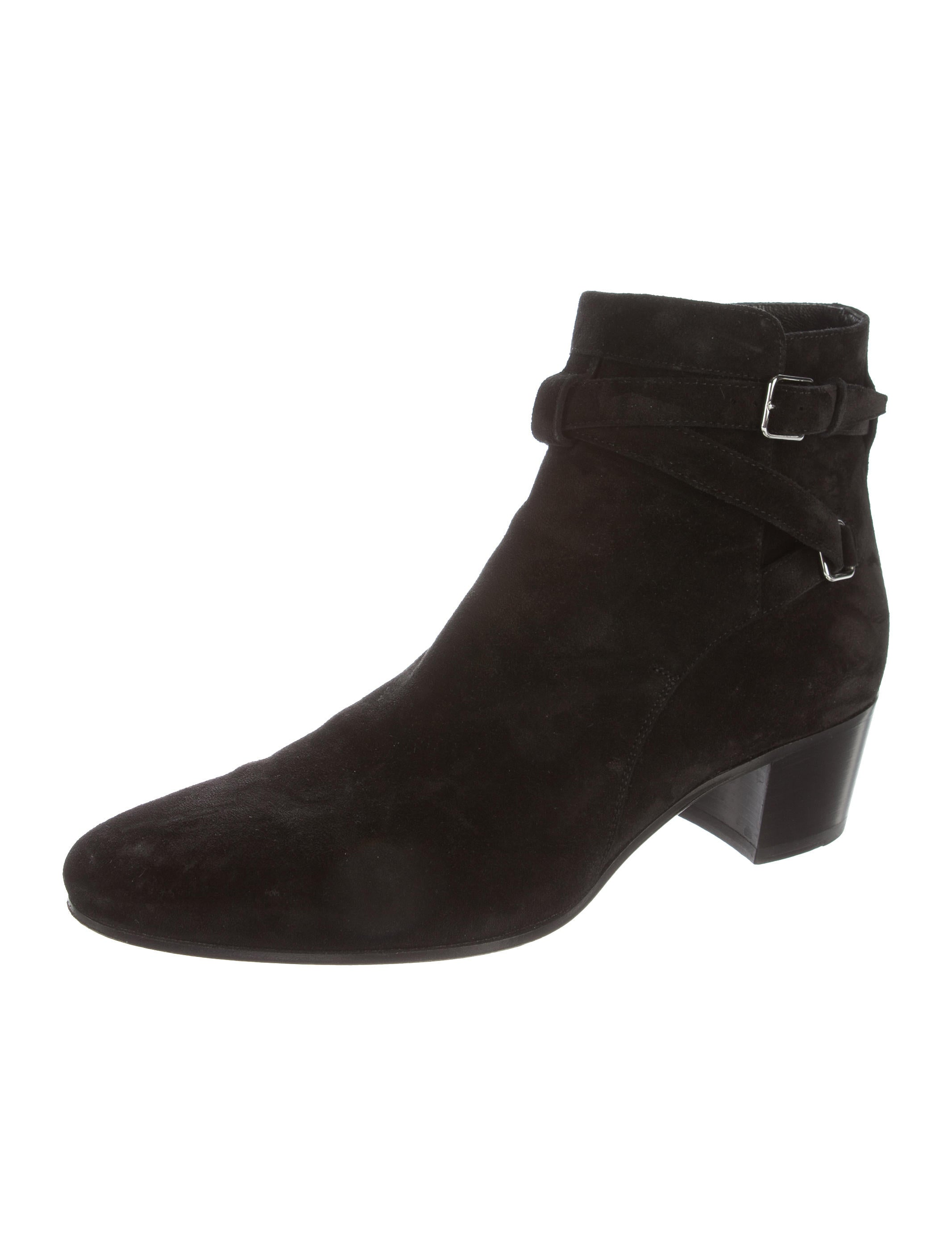laurent toe suede ankle boots shoes