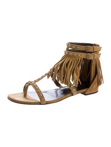 Studded Tassel Sandals