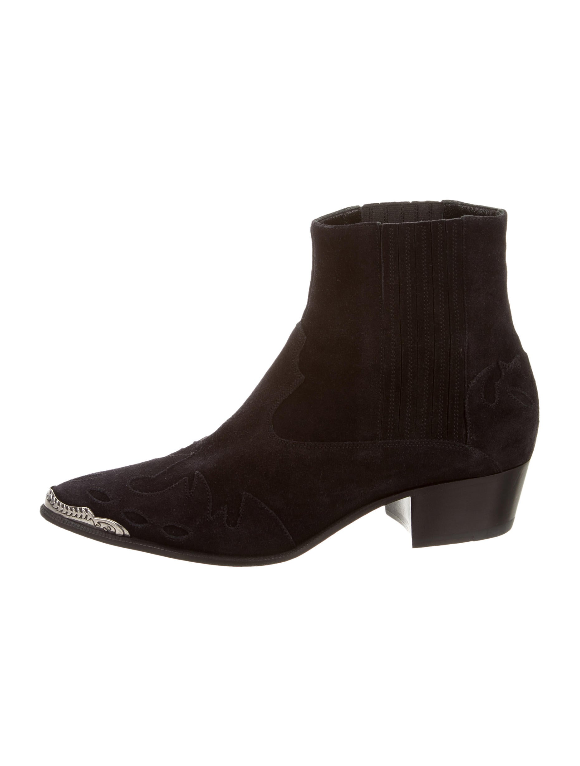 laurent suede pointed toe ankle boots shoes