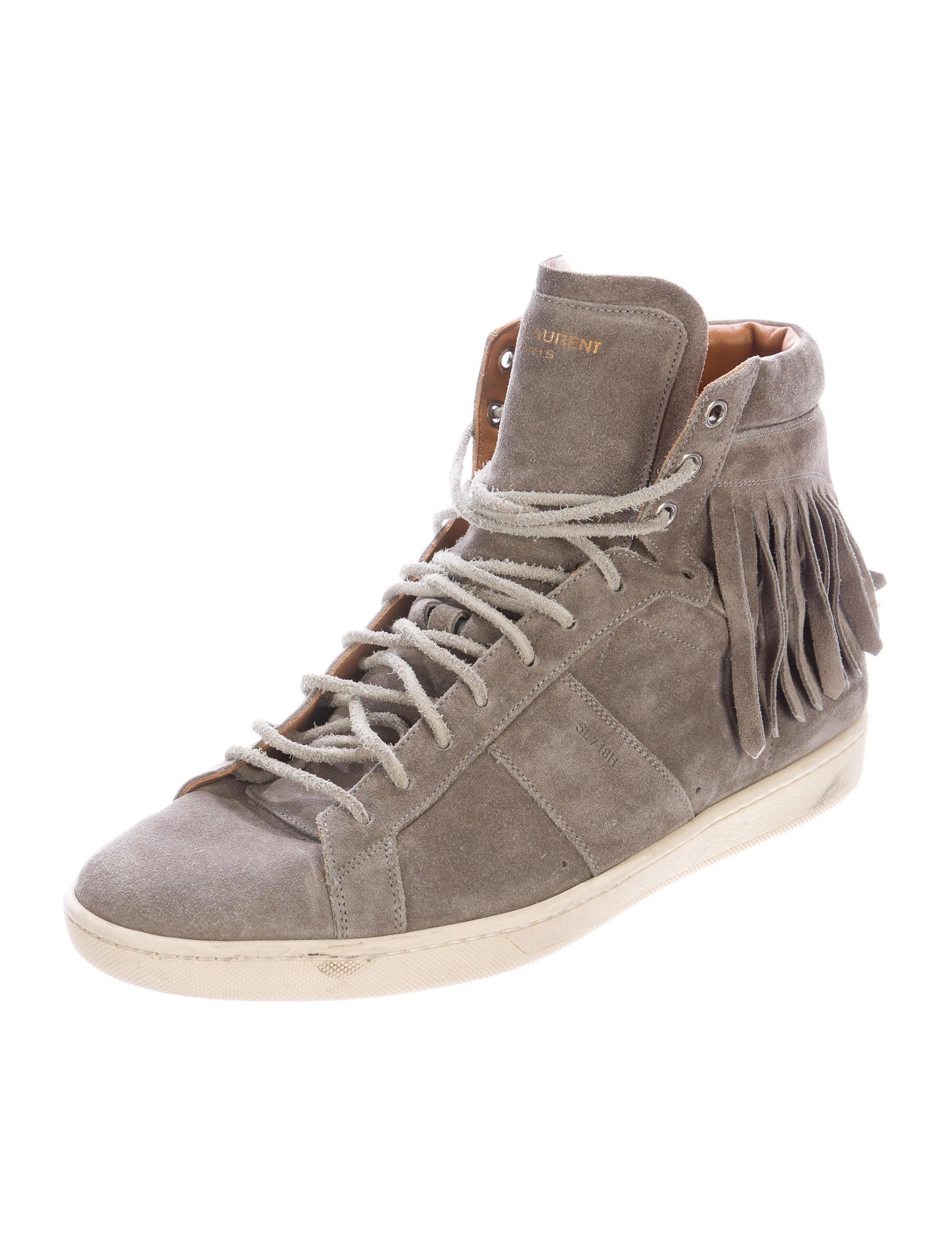 saint laurent suede sl 18h sneakers shoes snt33077 the realreal. Black Bedroom Furniture Sets. Home Design Ideas