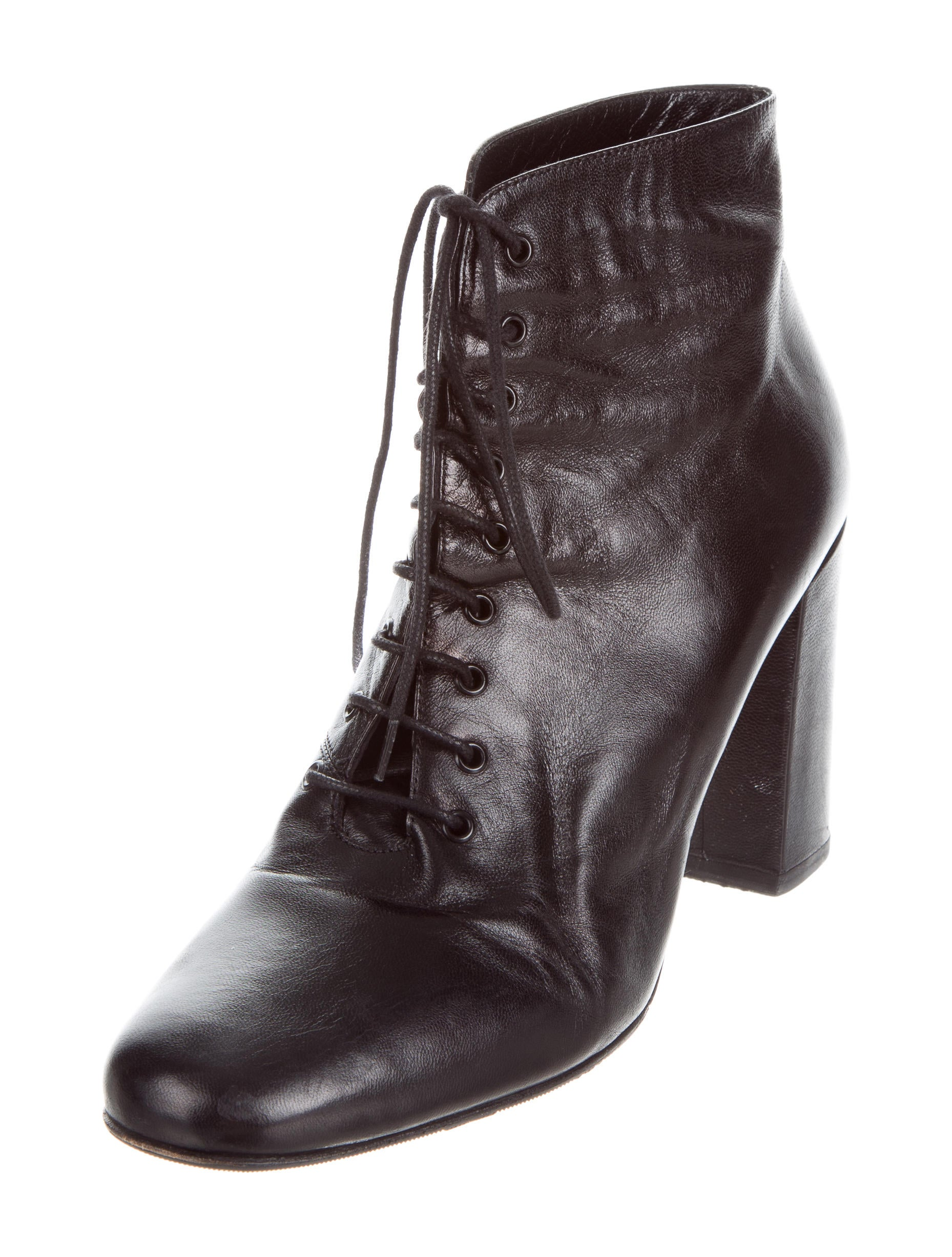 laurent leather lace up ankle boots shoes