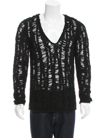 Saint Laurent Virgin Wool V-Neck Sweater None