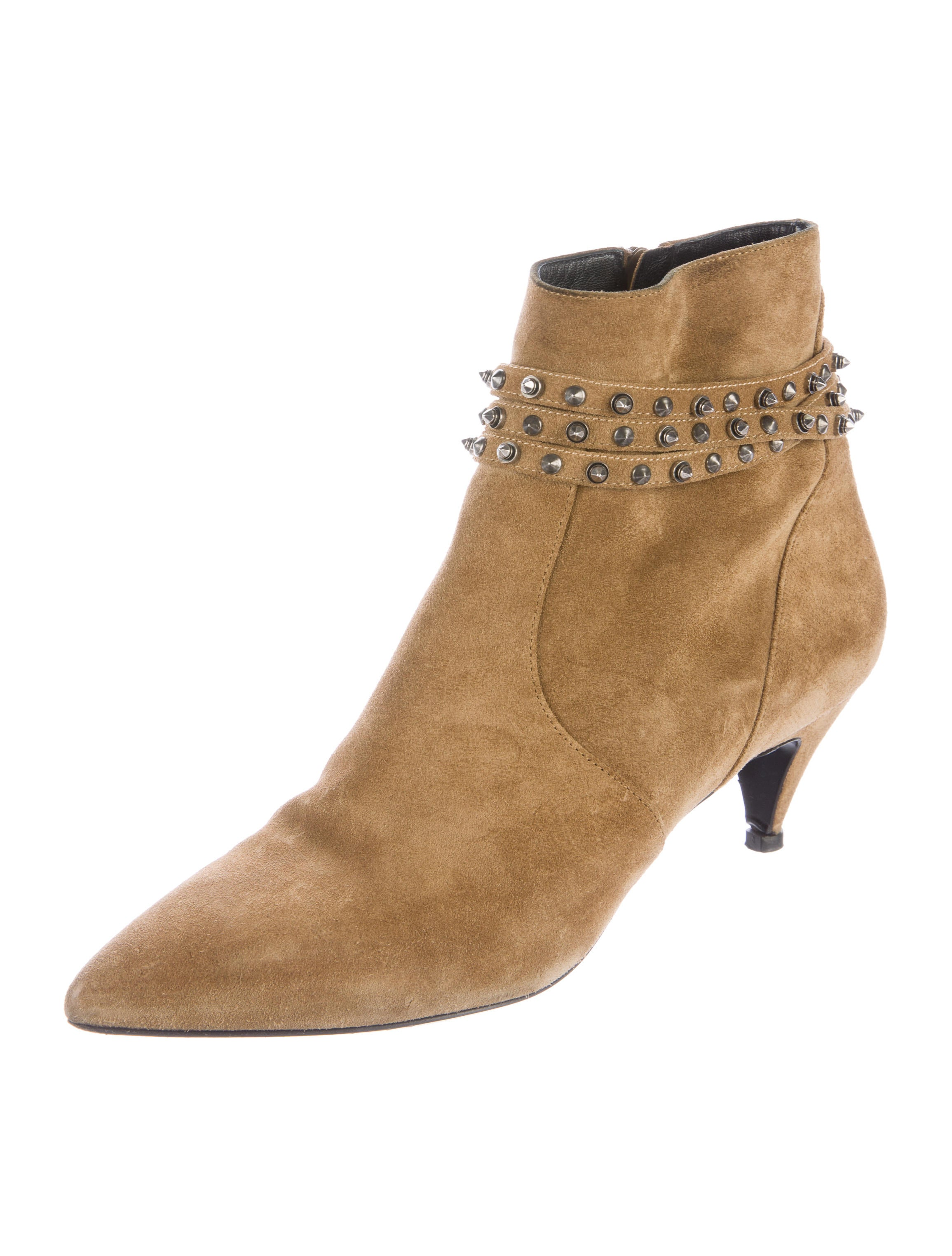 laurent studded suede ankle boots shoes snt34184