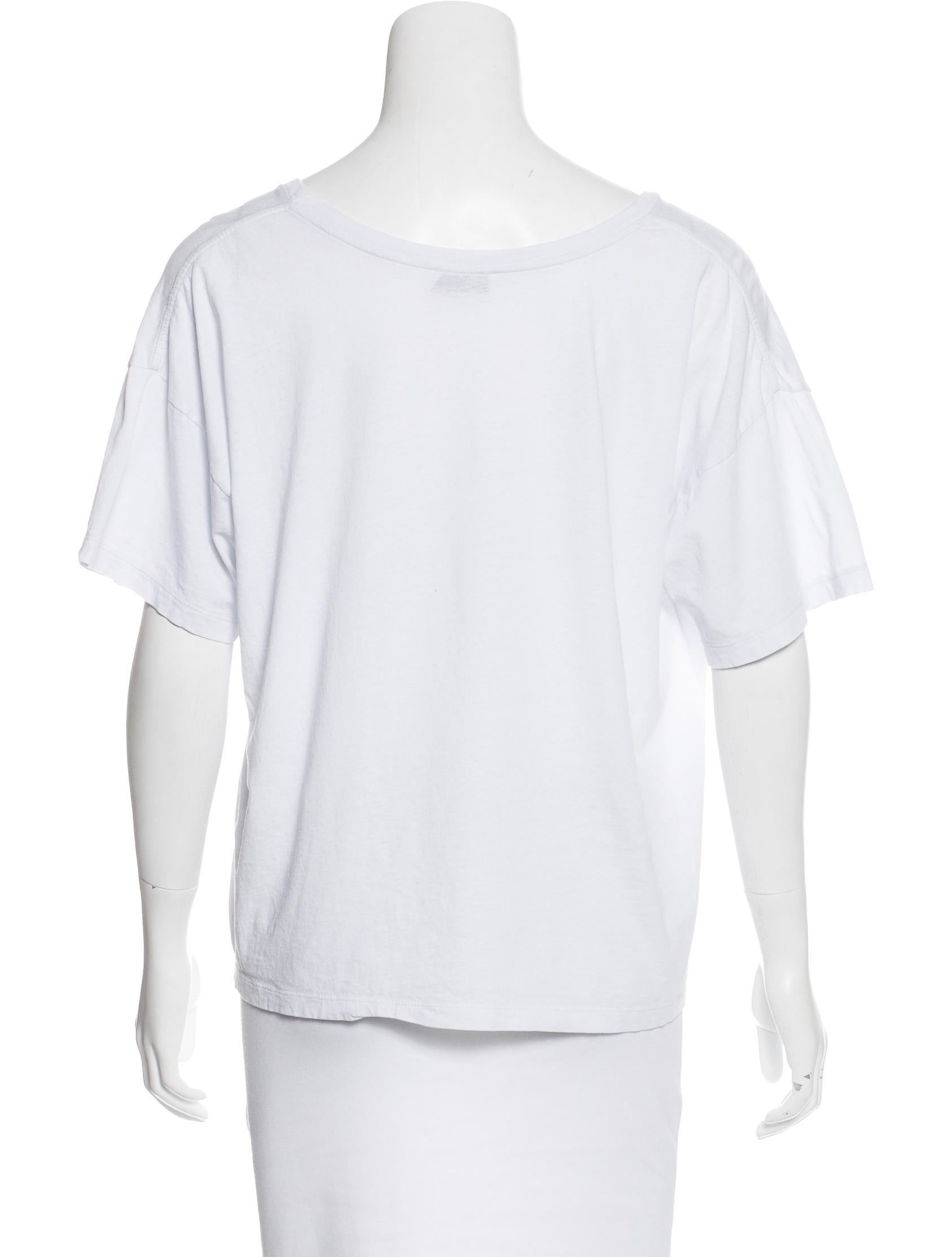 Saint laurent distressed short sleeve t shirt clothing for Saint laurent shirt womens