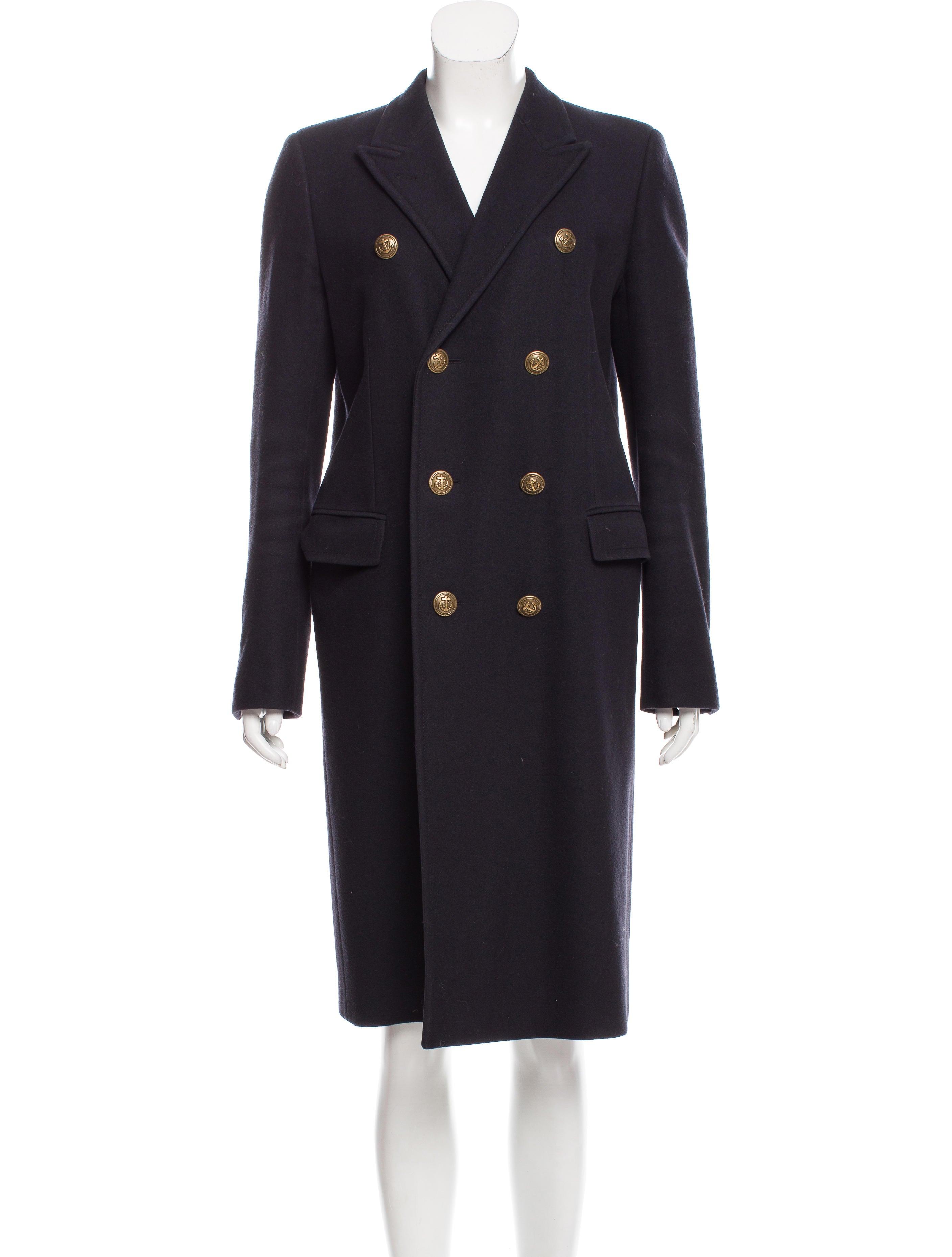 Saint laurent structured wool coat clothing snt34211 for Saint laurent shirt womens